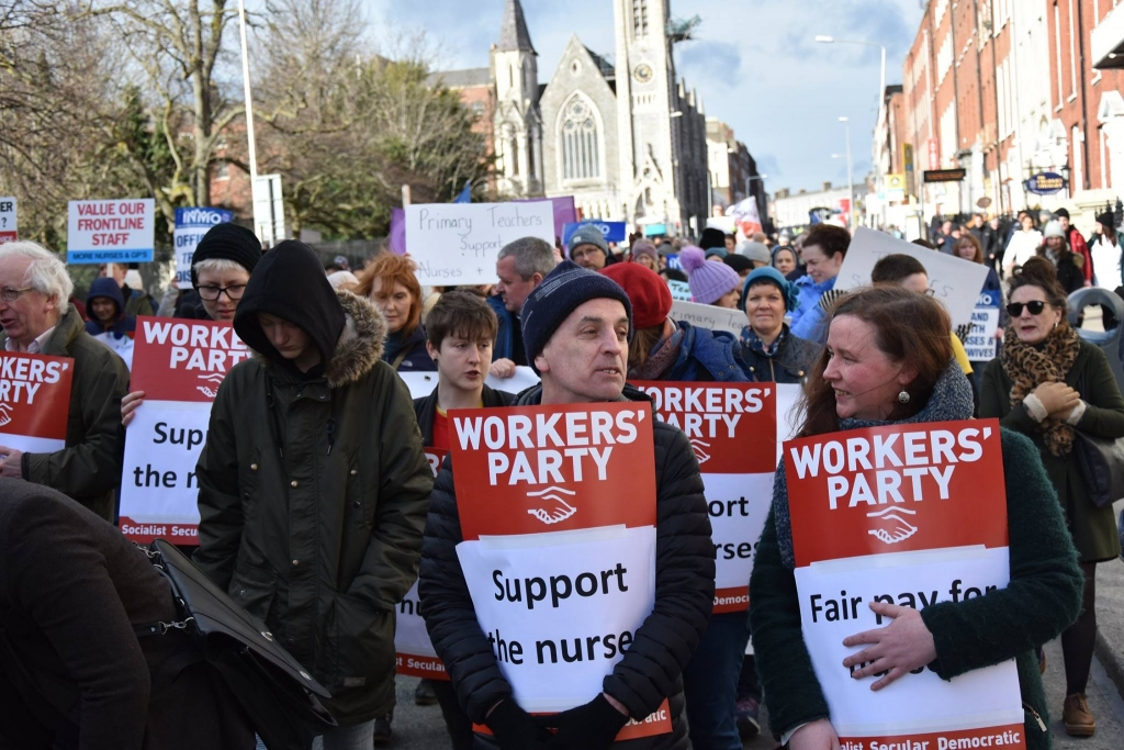 Workers party members supporting the nurse strike